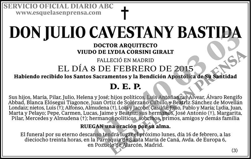 Julio Cavestany Bastida